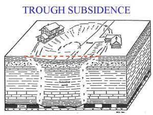 3 - Trough Subsidence